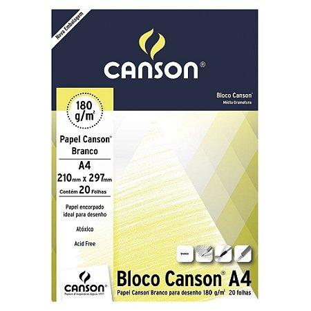 PAPEL CANSON BRANCO 180 G/M