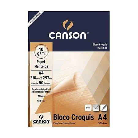 PAPEL MANTEIGA A4 40 M/G CANSON