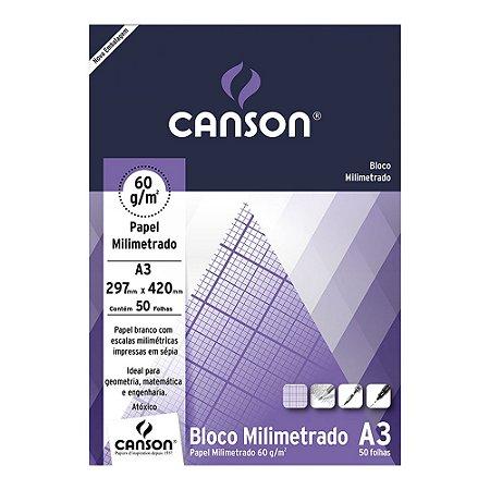 PAPEL MILIMETRADO A3 CANSON 60 G/M