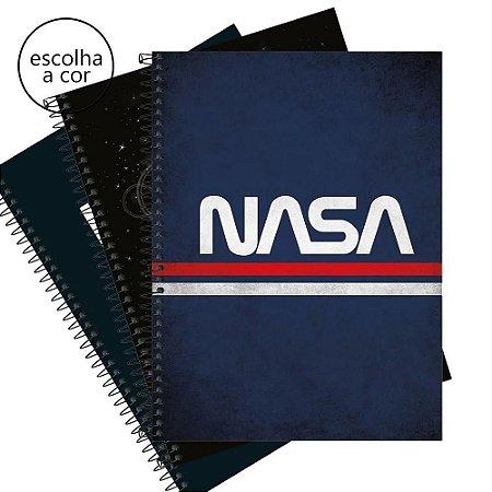 Caderno Universitário 10 Matérias Nasa 160 Folhas Tilibra