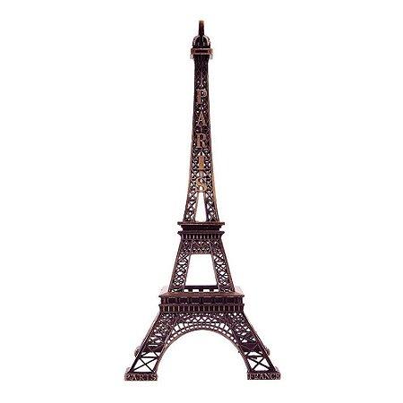 Torre Eiffel Paris Decorativa Metal 25cm