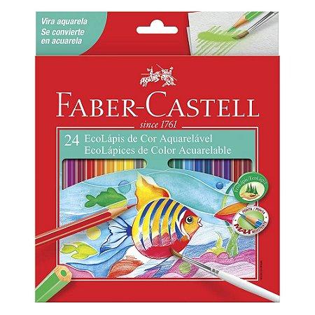 Lápis de Cor Aquarelável Faber Castell 24 cores