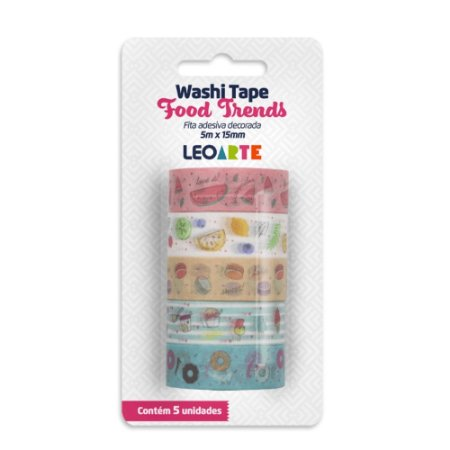 KIT WASHI TAPE FOOD TRENDS LEOARTE