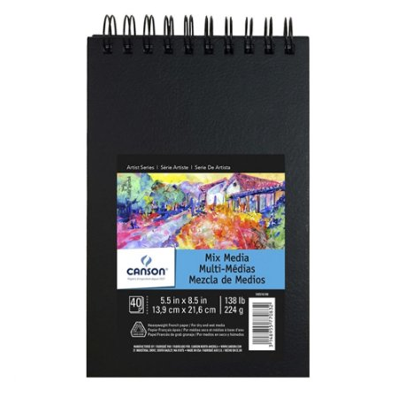 Caderno Artbook Espiral Mix Média Canson A5 224G