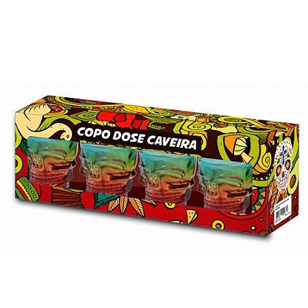 COPO DOSE C/ 4 UN - CAVEIRA