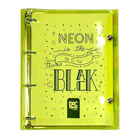 Caderno Argolado Neon Amarelo Dac