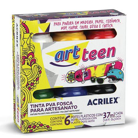 TINTA PVA FOSCA PARA ARTESANATO ART TEEN