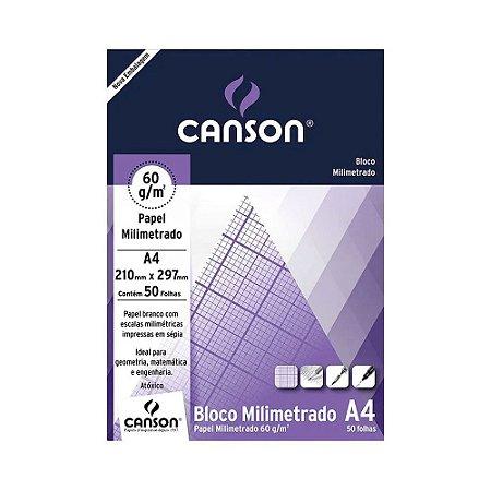 Papel Canson Milimetrado 60GM2 A4