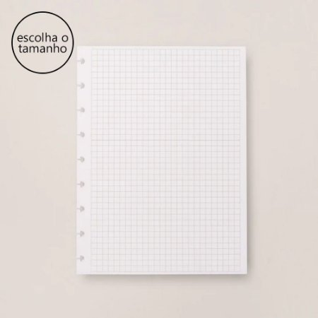 Refil Caderno Inteligente Quadriculado