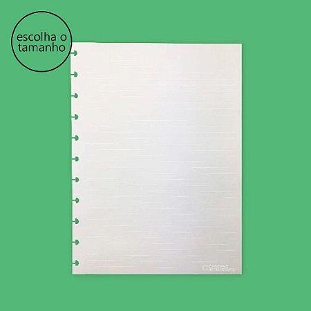 Refil Caderno Inteligente Linhas Brancas Pautado