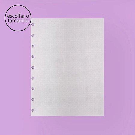 Refil Caderno Inteligente Linhas Brancas Quadriculados