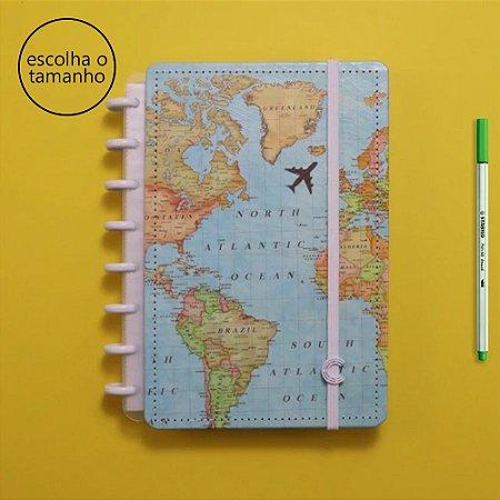 Caderno Inteligente Mapa Mundi By Gocase