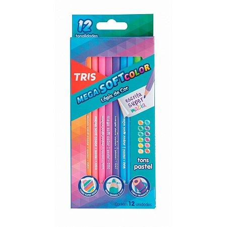 Lápis de Cor Tons Pasteis Mega Soft Color Tris