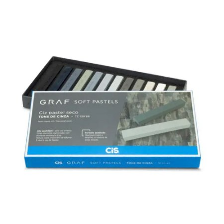 Giz Pastel Seco Graf Soft Pastels Tons de Cinza