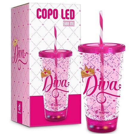 COPO LED DIVA 500ML BRASFOOT