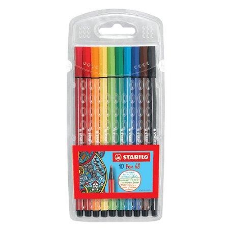 Caneta Pen 68 Stabilo Kit c/10