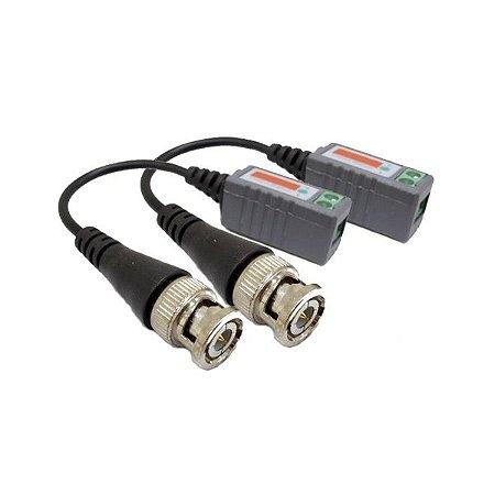 Conversor Vídeo Balun Colorido 300 Metros - Kit com 10 Unidades