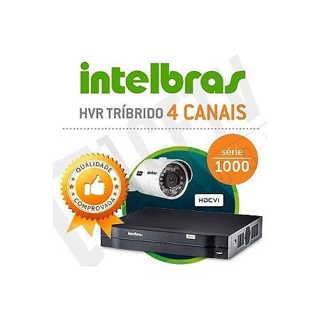 DVR TRÍBRIDO INTELBRAS HDCVI 4 CANAIS
