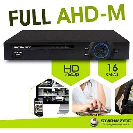 DVR AHD-M TRÍBRIDO SHOWTEC 16 CANAIS - ALTA DEFINIÇÃO - HDMI