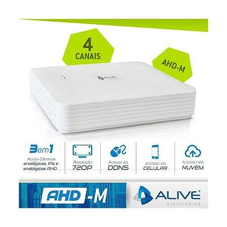 DVR AHD-M TRÍBRIDO ALIVE 4 CANAIS - HDMI