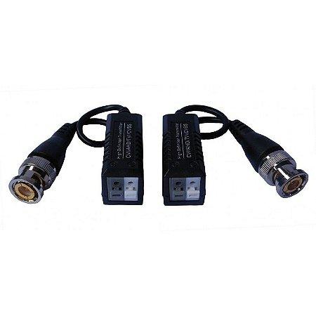 Conversor Balun CFTV para Cabo de Rede Par Trançado (utp, ctp) para Uso em Câmeras HD (AHD, HDCVI, HDTVI)
