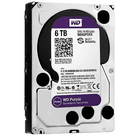 HD Sata Western Digital (WD) Purple 6TB - Sugerido pela Intelbras