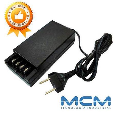 Fonte MCM Eletrônica 10A para CFTV com Ajuste de Tensão 12v até 14v