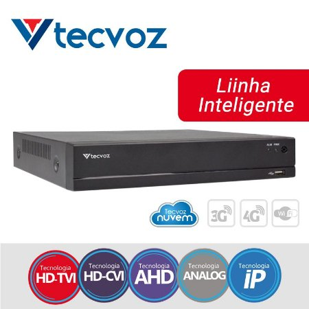 DVR  4 CANAIS 5 EM 1 STAND ALONE HÍBRIDO TECVOZ TV-E504
