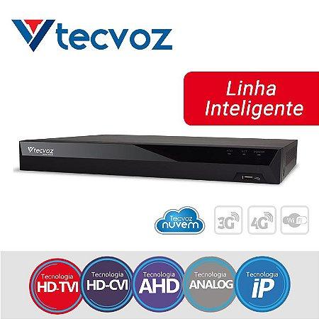 DVR 16 CANAIS 5 EM 1 STAND ALONE HÍBRIDO TECVOZ TV-P5016