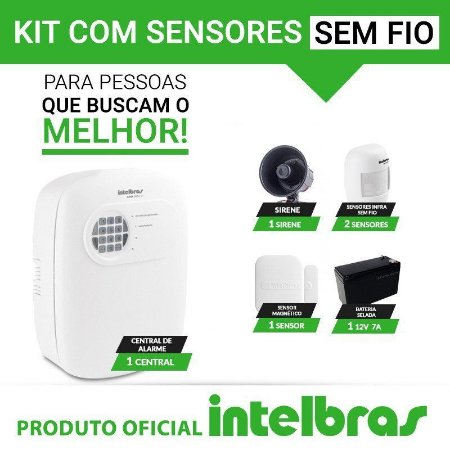 Kit de alarme Intelbras - Sensores sem fio