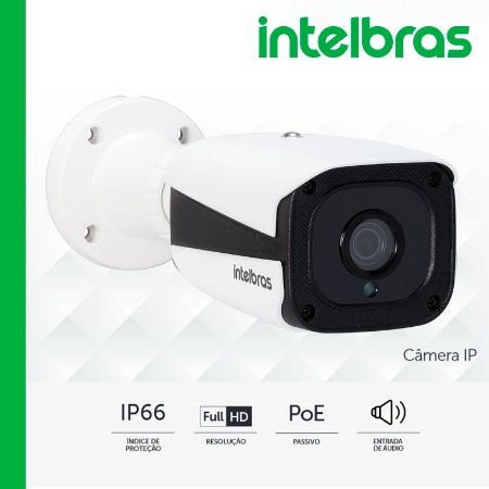 "Câmera IP VIP 1220 B G3 - Bullet Full HD, POE passivo, H.265, entrada de áudio, lente 3.6mm, sensor 1/3"", IR 20 mts - IP66"