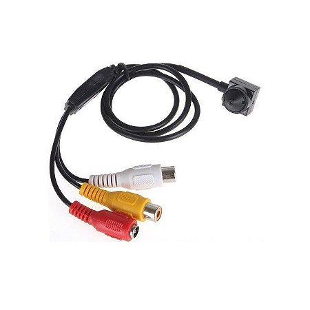 Micro Câmera Camuflada Pinhole (650TVL | 1/4 | 3.6mm)