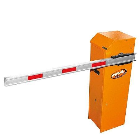 Cancela Automática PPA Barrier R Brushless Universal Bivolt Barreira Laranja 3M c/ Led