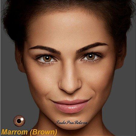 Lente Contato Marrom Brown Air Optix + Estojo + Brinde