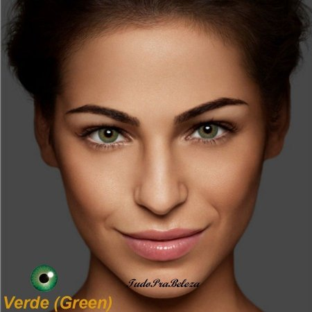 Lente de Contato Verde Green Natural Air Optix + Estojo + Brinde
