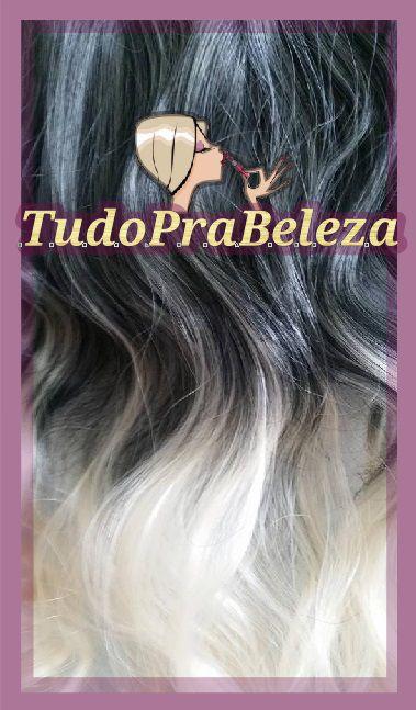 Aplique Luzes com Ombre Hair Preto com Loiro Mix Liso Pontas onduladas