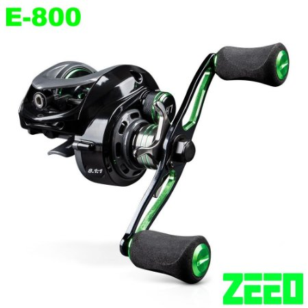 Carretilha ZEEO E-800 Drag 6kg 8 Rolamentos Recolhimento 8.1:1