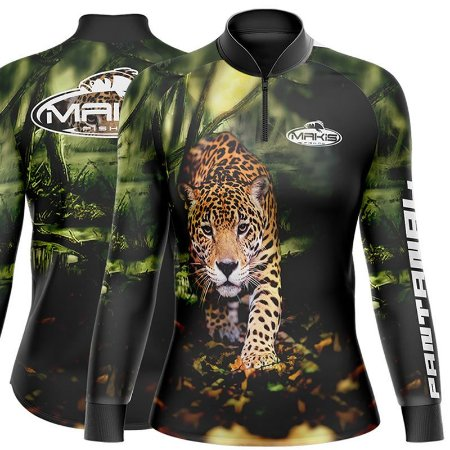 Camisa de Pesca Proteção Solar Uv50 Feminina Makis Fishing