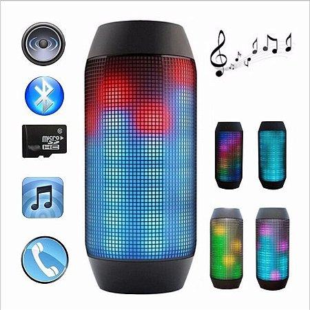 Caixa De Som Portátil Bluetooth Led Rádio