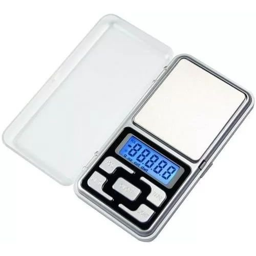 Mini Balança Digital De Bolso - Precisão 0.1g Até 500 gramas