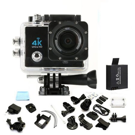Mini Camera Action Go Cam Pro Sport Ultra 4k Full Hd 16 Megapixels a Prova D`agua Com Flash