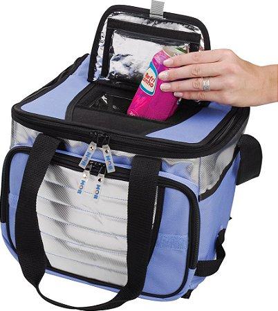 Bolsa Térmica Ice Cooler 1 Divisória 36L Até 40 Latas-  Azul - MOR