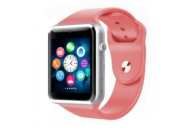 Relógio Smartwatch A1 Original Touch Bluetooth Gear Chip - Rosa-Prata