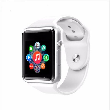 Relógio Smartwatch A1 Original Touch Bluetooth Gear Chip- Branco-Prata