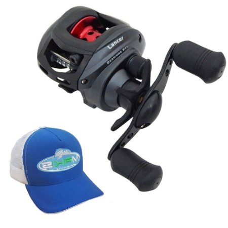 Carretilha Saint Plus Lancer 10000 Com Boné Makis Fishing Azul