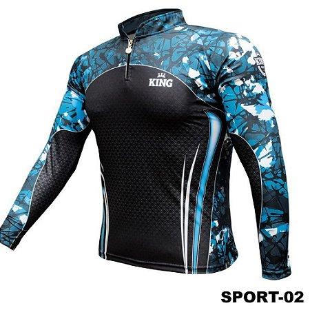 Camiseta de Pesca King Com Proteção Solar UV50+ - Sport 02