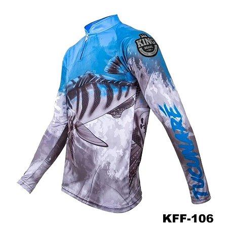 Camiseta de Pesca King Com Proteção Solar UV50+ - KFF106