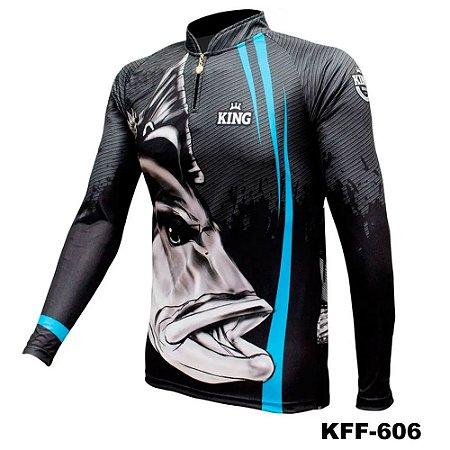 Camiseta de Pesca King Com Proteção Solar UV50+ - KFF606