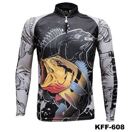 Camiseta de Pesca King Com Proteção Solar UV50+ - KFF608