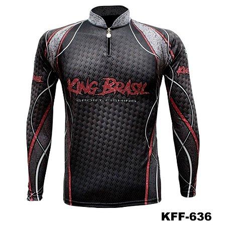 Camiseta de Pesca King Com Proteção Solar UV50+ - KFF636